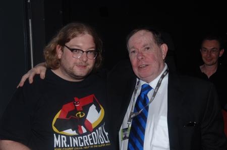 Syd Mead und ich Matthias J Lange im Jahre 2008.