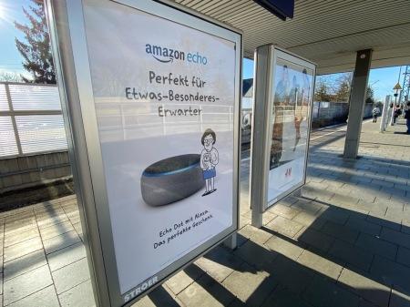Zu Weihnachten machte Amazon massiv Werbung für die Echo-Familie.