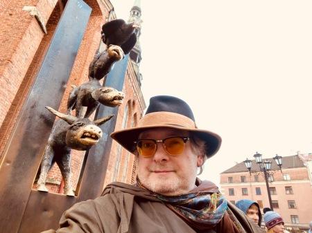 Etwas erstaunt war ich als ich die Bremer Stadtmusikanten in Riga traf.