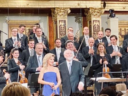 Ein Traum geht in Erfüllung: John Williams, Anne-Anne Sophie Mutter und die Wiener Philharmoniker im Musikverein Wien.. Foto: Lange