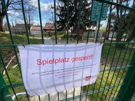 Die Spielplätze der Gemeinde Maisach sind wie überall gesperrt.