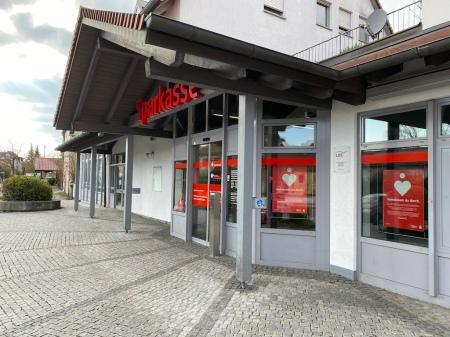 Die Zweigstelle der Sparkasse in Maisach.