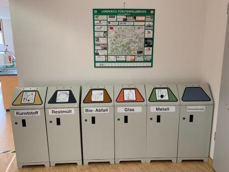 Mülltrennung im Landratsamt.