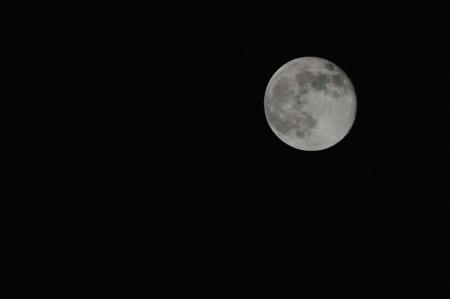 der Supermond durch meine Nikon.